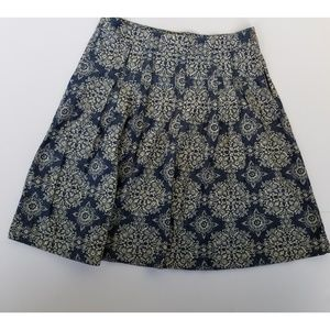 Loft Damask Pattern Skirt A-line 8